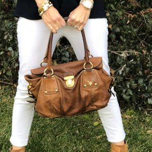 Prada leather brown purse